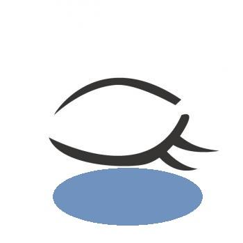 目元の青いくまアップ