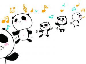 踊るパンダ