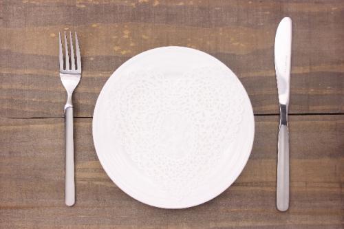 お皿とナイフ